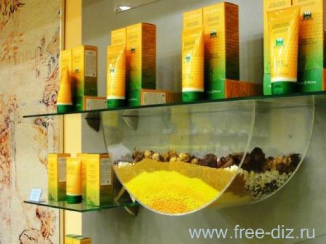 Дизайн торгового оборудования для бутика натуральной косметики Frais...