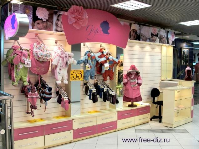 торговое оборудование для магазинов одежды и головных уборов