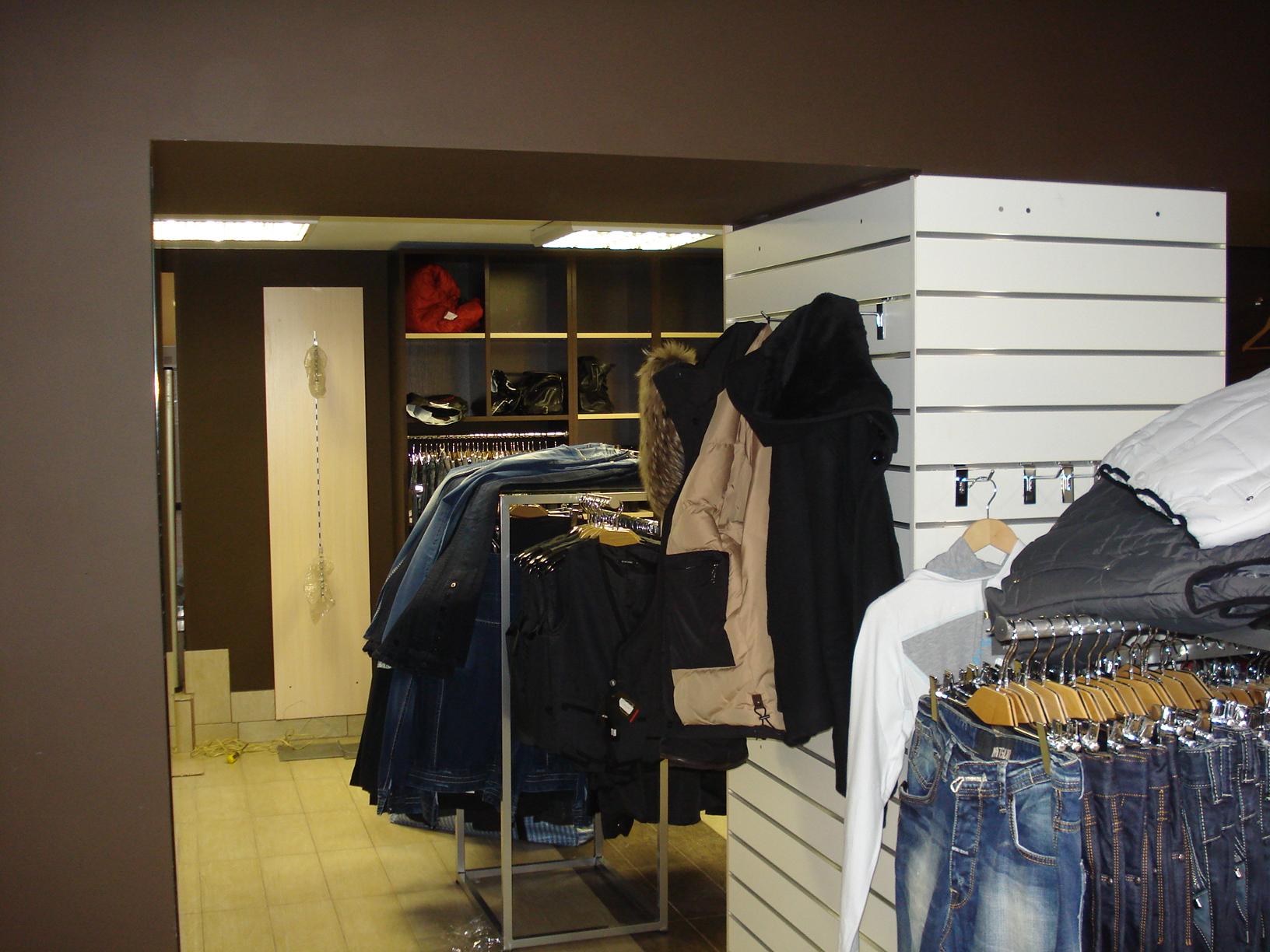 оснащение магазина одежды