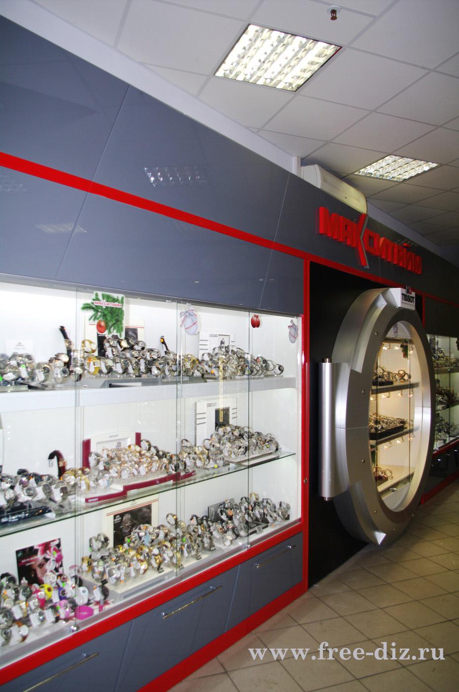 Торговое оборудование салона часы