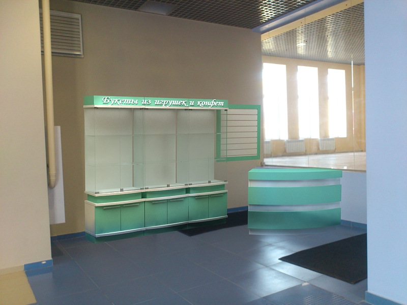 Дизайн торгового оборудования для магазина букетов