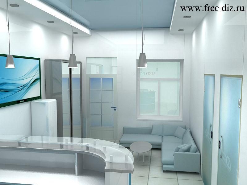 Интерьер для холла стоматологической клиники